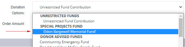Eldon Bargewell Memorial Fund Donations
