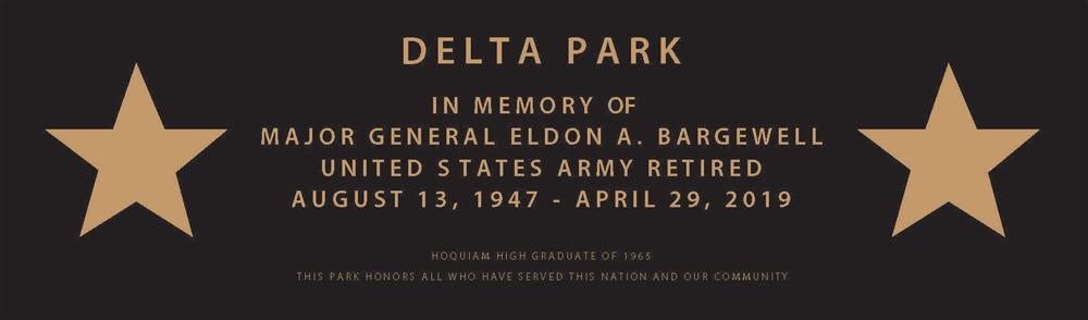 Delta Park Street Sign